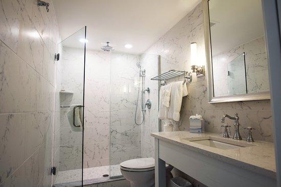 Icona Avalon Carrera Marble Bathroom With Gl Shower