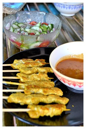 Make Your Own Thai Street Food At Home Chicken Satay Picture Of