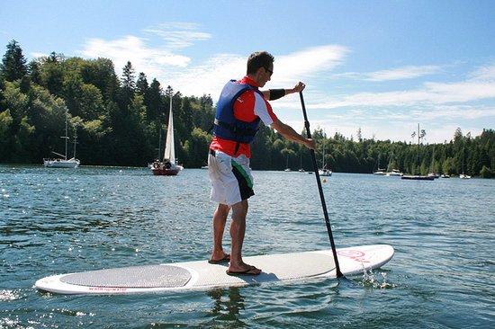 Celles-sur-Plaine, Fransa: Le stand up paddle sur le lac de Pierre-Percée !