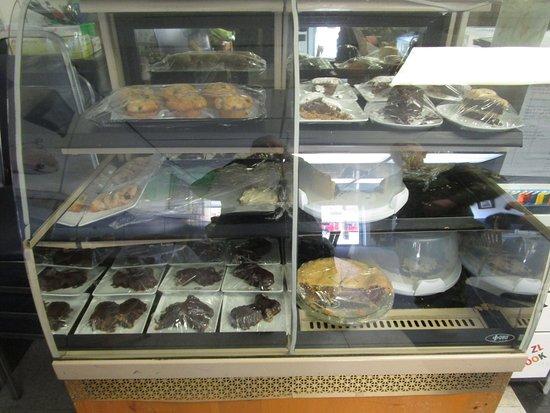 Ovid, NY: AJs - cake and dessert display