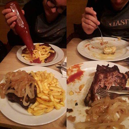 lommerzheim prima e dopo kotlett con patatine e bratwurst