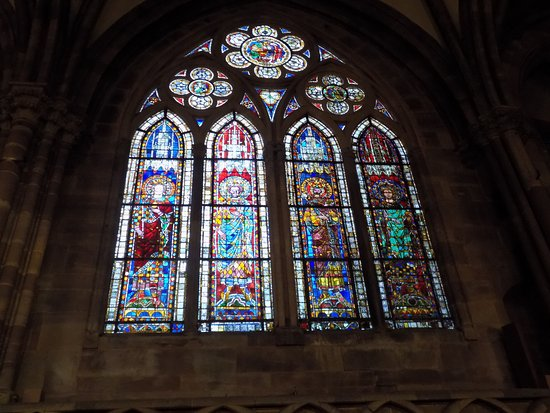 Katedral Strasbourg: stained glass