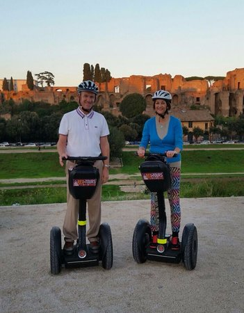 Rex-Tours Segway: Circus Maximus with Palatine Hill in the background
