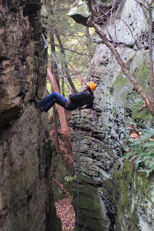 Rockbridge, OH : The views Rappelling at High Rock Adventures never get old
