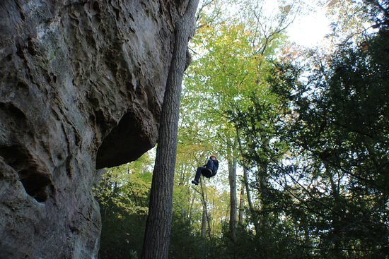 Rockbridge, OH : Just hanging out at High Rock Adventures