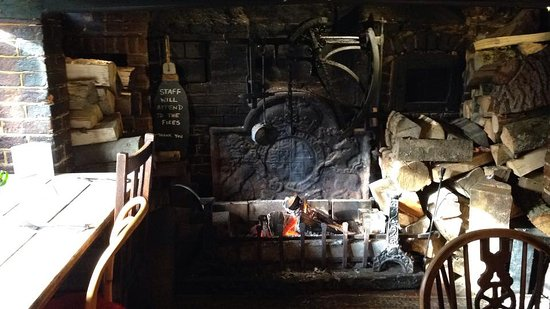 Inglenook Fire nice and toasty whilst having Sunday lunch