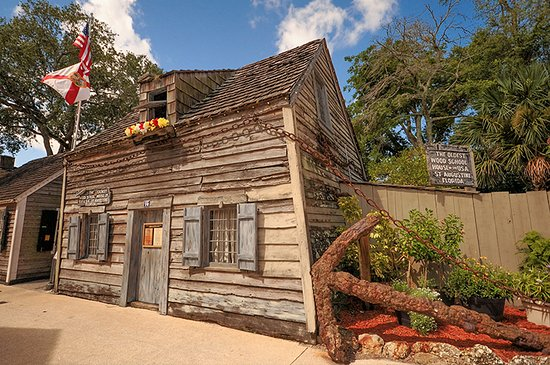 Crescent Beach, FL: Oldest Wooden Schoolhouse, downtown St. Augustine