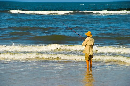 Saint Augustine Beach, FL: Surf Fishing in Crescent Beach