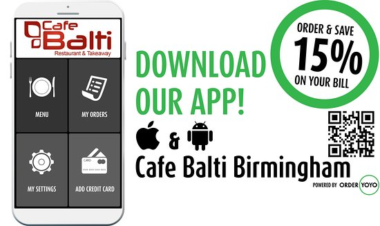 Cafe Balti Restaurant: DOWNLOAD OUR APP!