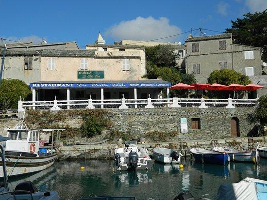 Centuri, Francia: Le restaurant vu d'en face du port