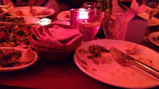 a la turka food plates piled up