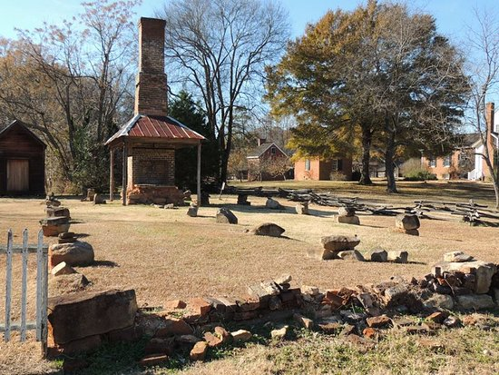 McConnells, Carolina del Sur: The remains of the kitchen of a main house in historic Brattonsville