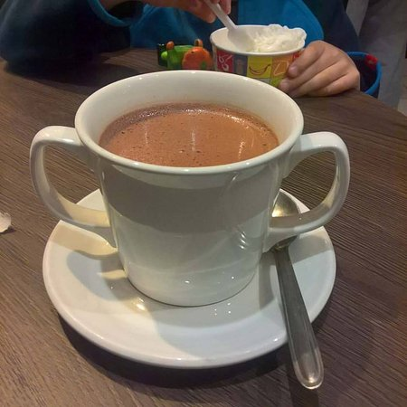 Chocolate Bar Café at York's Chocolate Story: 67% dark mint hot choc. Absolutely delicious!