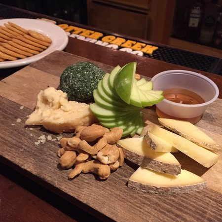 The Scuffer Tap and Table: The cheese plate was perfect at happy hour prices (half off). Local cheeses made to perfection.