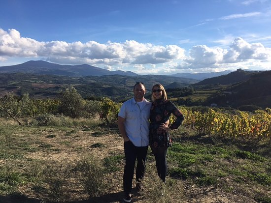 Montalcino, Italien: Podere le Ripi Views in the Vineyard