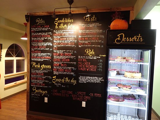 Blue Roof Bistro Menu Board