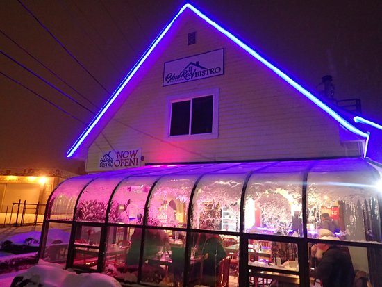 Blue Roof Bistro In Winter