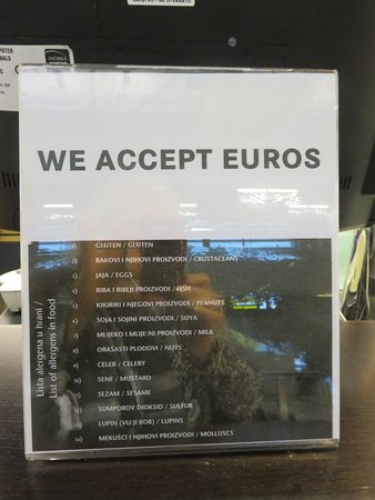 Caffe Lindo: Euros or kunas accepted here
