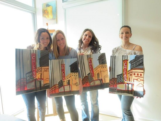 Byob painting classes picture of vip paints chicago for Painting classes ct