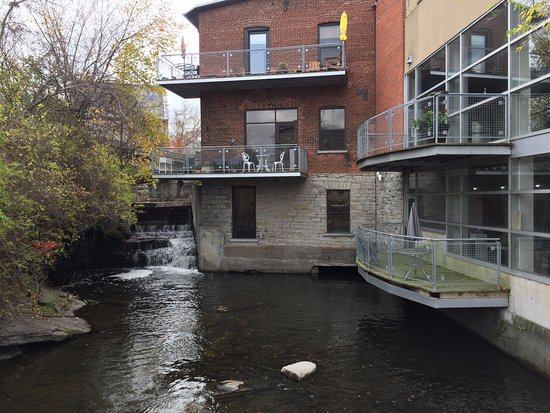 Almonte, Canada: Building along the walk turned into commercial and living space