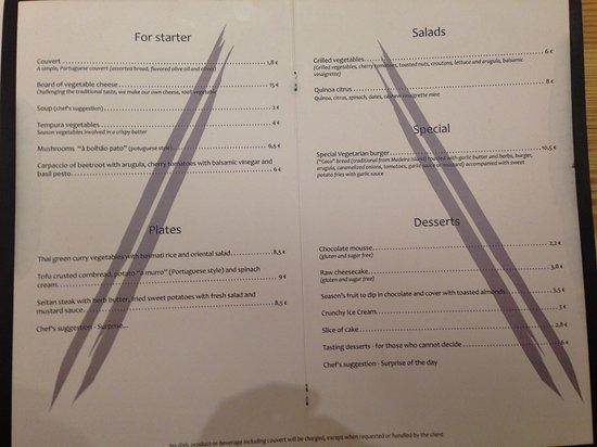 ao 26 vegan food project menu