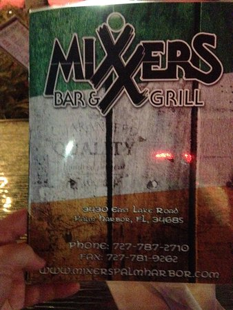 Palm Harbor, FL: Menu cover
