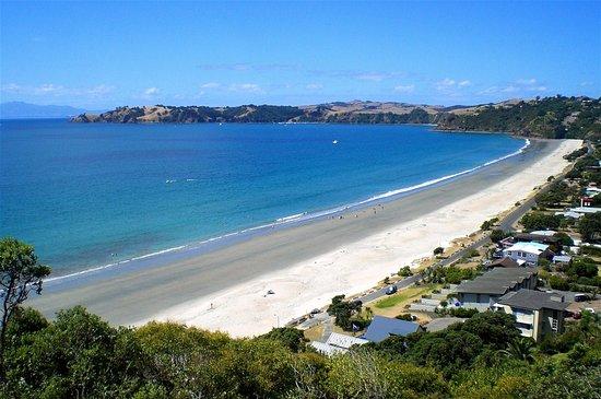 Waiheke-eiland, Nieuw-Zeeland: Onetangi Beach