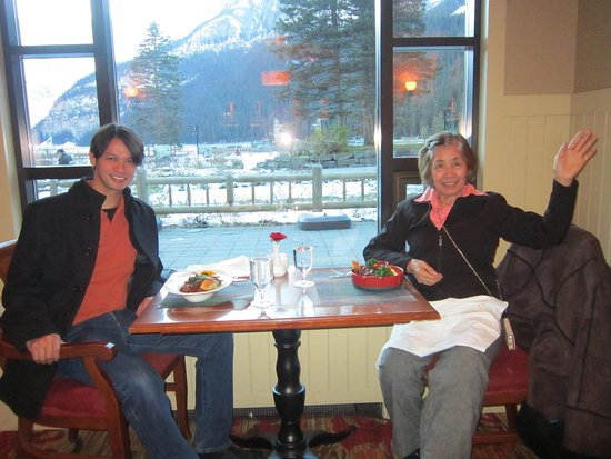 My bonding moments with my Mom @ the Poppy Brasserie/Fairmont Chateau Lake Louise