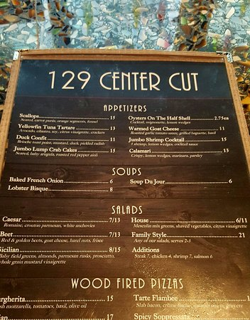 Menu Sample - Picture Of 129 Center Cut, Grayslake - Tripadvisor