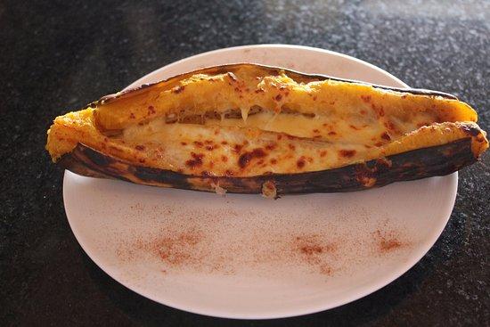 Tres Rios, Costa Rica: Plátano maduro al horno