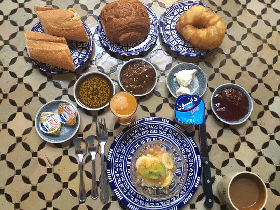 Riad Ahlam: Only half of my extraordinary breakfast!