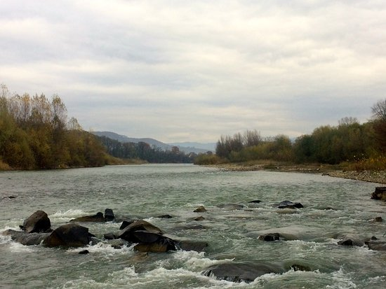 Maramures County, Rumania: The 0251 Upper Tisza protected area - Tisza River shots during ichtyofauna study