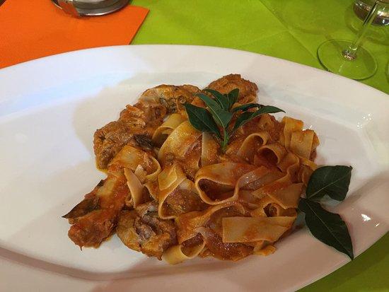 Osteria delle Quattro Stagioni: Il piatto preparato x me: pappardelle con bistecchine di maiale al sugo