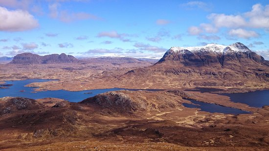 Achiltibuie, UK: Suilven and Cul Mor from Ben Mor Coigach