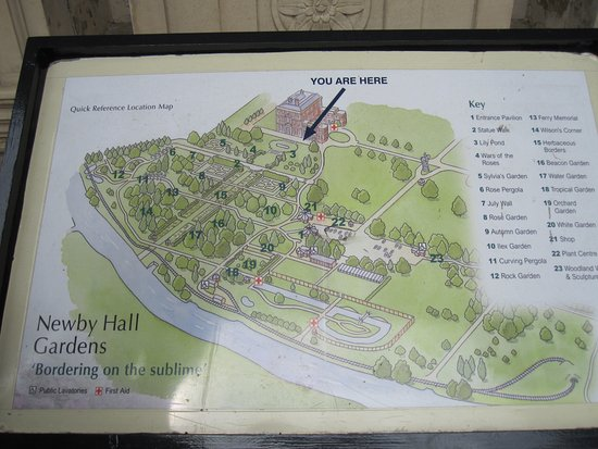 Newby Hall and Gardens: Plan of Newby Hall