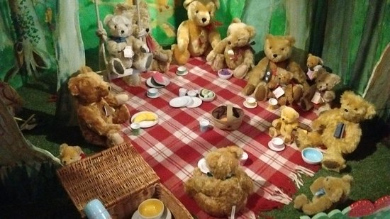 Newby Hall and Gardens: Part of taddy bear collection at Newby Hall