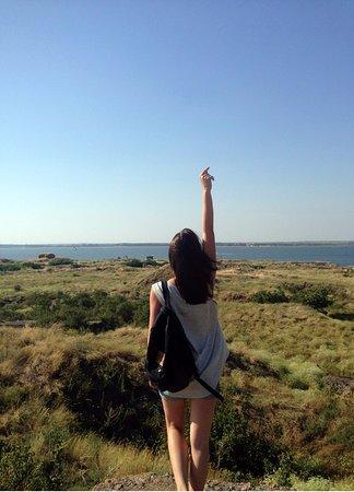 Ochakiv, Ukraina: Вид со скалы о.Березань