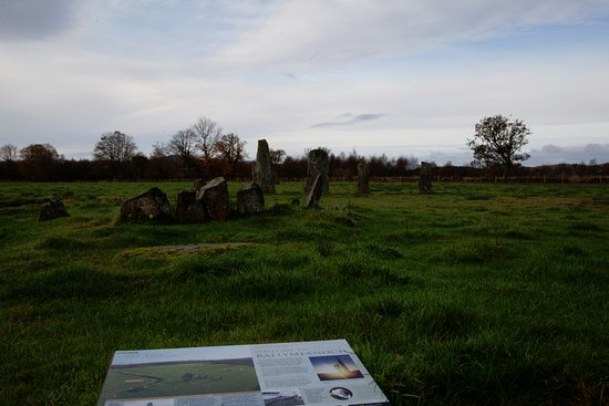 Kilmartin, UK: These are the standing stones you can see from the house!
