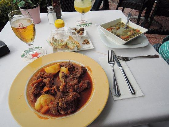Santa Lucía, España: Goat meat and vegetable soup