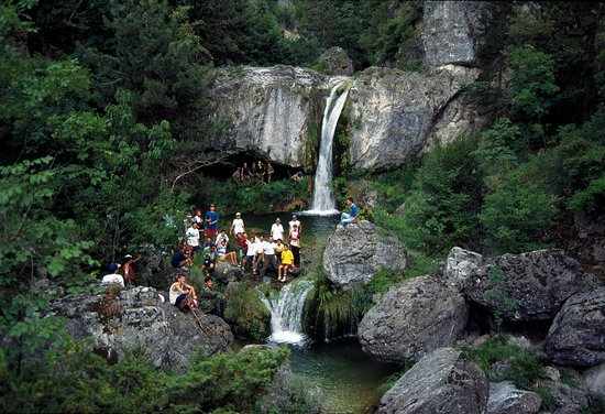 Macedonia central, Grecia: Olympus-waterfalls
