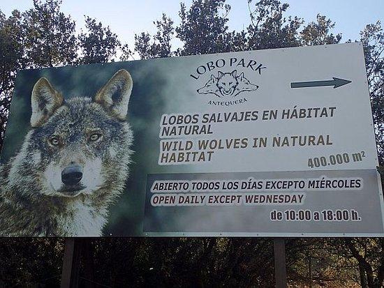 Lobo Park: Hinweistafel Nähe Eingang