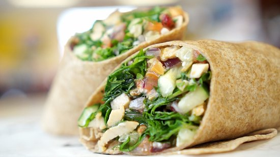 Wapakoneta, OH: So many delicious wraps and salads to choose from!