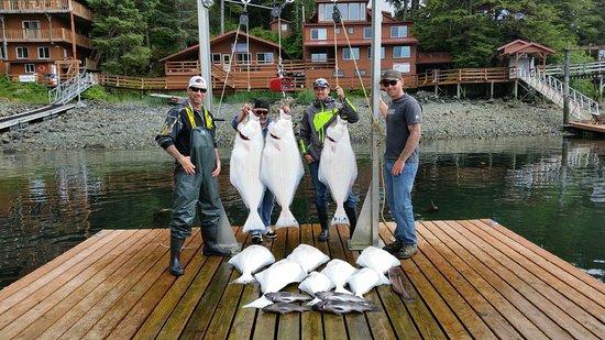 Elfin Cove, AK: first day catch