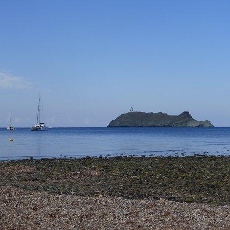 Ersa, Frankrijk: La plage en face de l'ile de la Giraglia