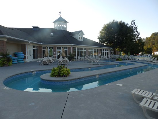 Outdoor pool area picture of mainstay suites pigeon - Vanston swimming pool mesquite tx ...