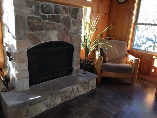 Ely, MN: Community fireplace