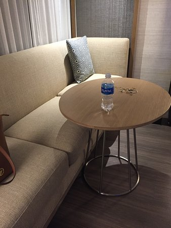 Great Charlotte Marriott City Center: Table Too High To Be Functional For Work/ Eating From