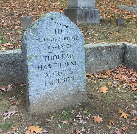 Concord, MA: Directional Stone in Sleepy Hollow