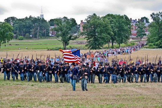 Gettysburg militære nasjonalpark: The last march of the Iron Brigade.