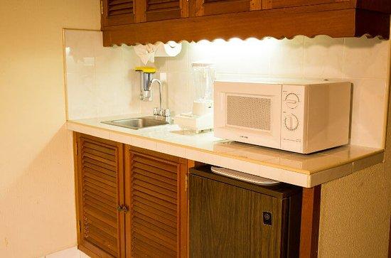 Mansion Teodolinda: Area de kitchenette - habitacion